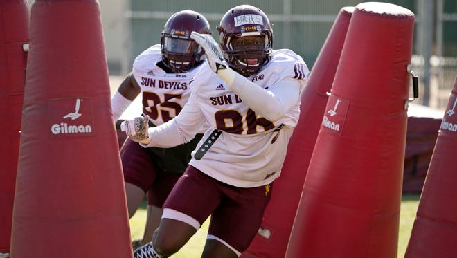 ASU defensive lineman Jalen Bates pushed for playing time as a true freshman in 2015 before redshirting and played in only five games combined in the last two seasons.