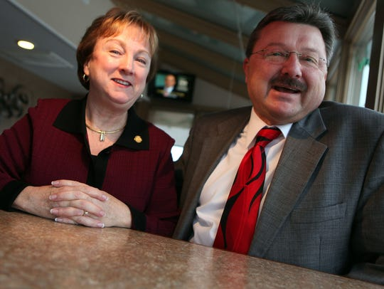 Republicans Eileen and Mike Kowall before they are