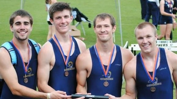 Roberson's boys 1,600-meter relay team.