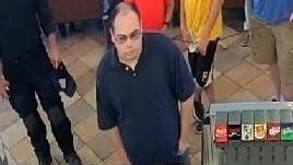 Evesham Police say this man, captured on store surveillance, secretly recorded another man in a restroom.