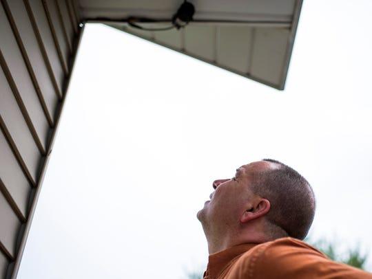 Vineland police Detective Michael Fransko checks out