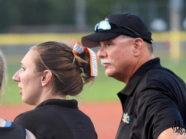 Teri Cain and her father, Bill Becker, coach together in a July 18-19 tournament in Columbus
