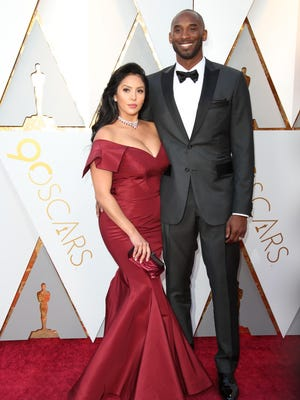 Vanessa and Kobe Bryant arrive at the 90th Academy Awards at Dolby Theatre.