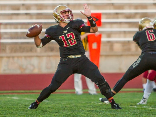 Cedar quarterback Mason Fakahua announced his commitment to BYU on Sunday and will sign his National Letter of Intent on Wednesday.