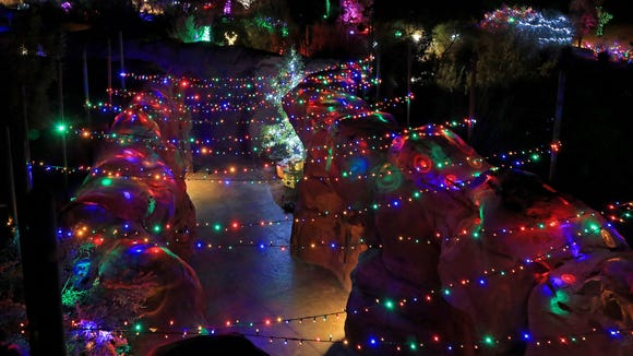 Don't just drive around and look at lights; get out and see some on foot at the Red Hills Desert Garden on Red Hills Parkway in St. George.