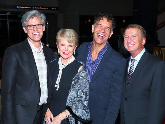From left: Jerry Green, Nancy Stone, Brian Stokes Mitchell, Gary Hall