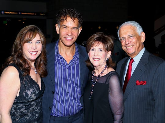 From left: Jill Friedman, Brian Stokes Mitchell, Diane and Hal Gershowtiz.