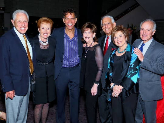 From left: Bernie and Barbara From, show star Brian Stokes Mitchell, Diane and Hal Gershowitz, Kay Edelman and Joe Benincasa.