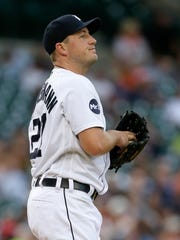 Jordan Zimmermann after giving up a solo homer to the
