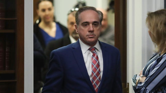 Veterans Affairs Secretary David Shulkin appears before a House Subcommittee on March 15, 2018 in Washington, DC.