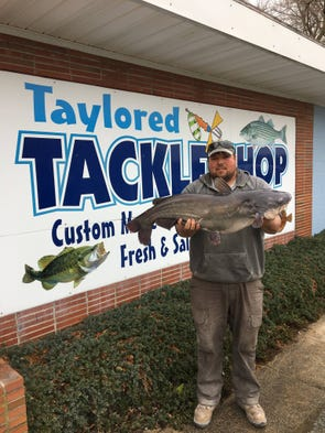Thad Palmer hauled in this new state record 24 pound