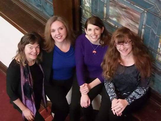 From left, Elizabeth Simkin, Tamara Acosta, Andrea