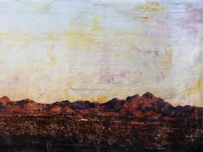 """""""Setting Sun,"""" by Lisa Olson. Part of the exhibit """"Painted"""
