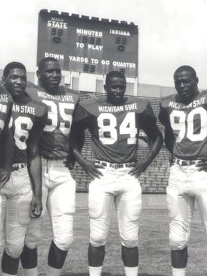 From right to left, Michigan State's George Webster, Gene Washington, Bubba Smith and Clinton Jones were four of the first eight picks in the 1967 NFL-AFL common draft.