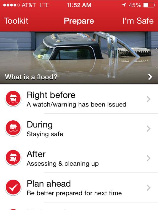 Red Cross flood app