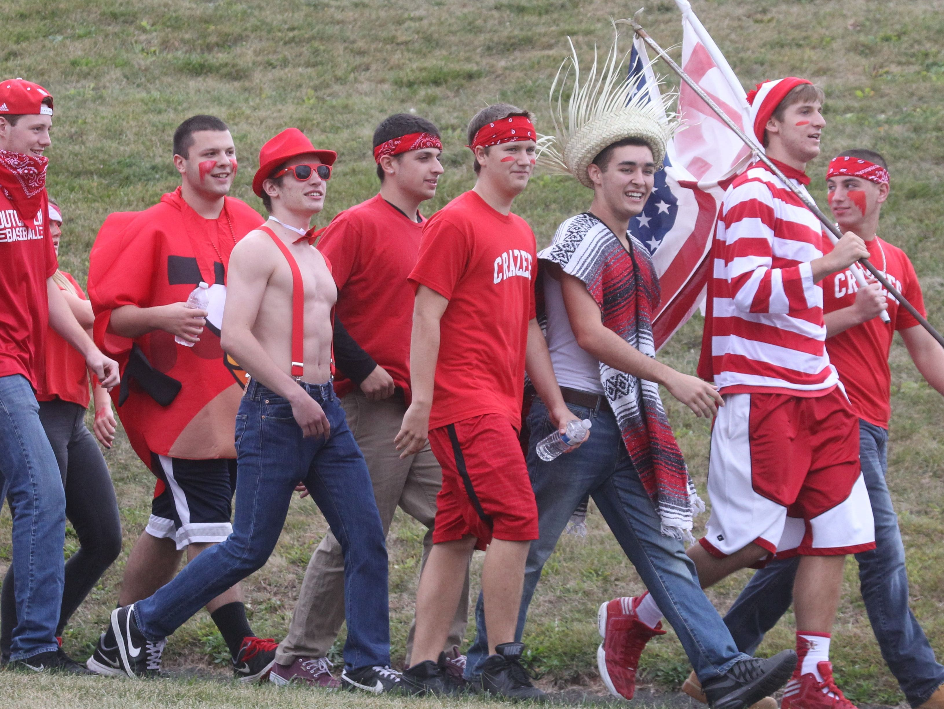Tappan Zee fans pictured during the Pearl River football team's 26-7 win at Tappan Zee on Oct. 2, 2014. Tappan Zee will host Pearl River at 7 p.m. on Sept. 23, 2016 in the Orange Bowl.