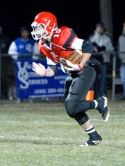 Riverheads' Chance Staton runs the football after receiving