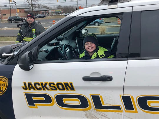 Jace Sorchinski got a chance to meet some of the Jackson Township first responders who ansered his 911 call after his mom Nicole had a seizure driving and may have stopped breathing. Jace called 911 and kept talking to her through the seizure, possible saving her life.