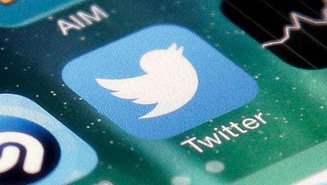 The icon for the Twitter app is shown on an iPhone in San Jose, Calif.