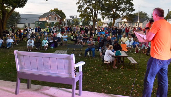 The annual Benches By the Bay street art auction held at Martin Park, Sturgeon Bay.