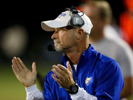 Brentwood head coach Ron Crawford is seen on the sideline