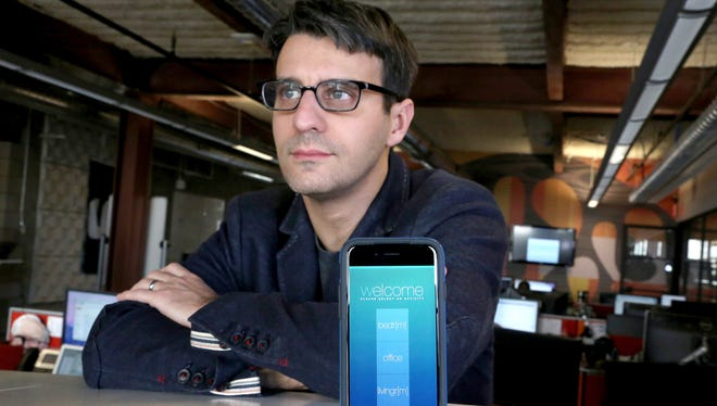 Itai Ben-Gal is the co-founder and CEO of iRule, a company located inside the Madison Building in Detroit that developed an app for the iPhone that allows you to control devices in your home.