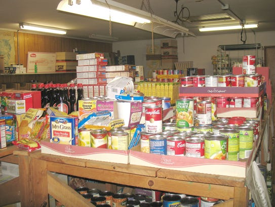 Various foods are piled up at the Sandusky County Food