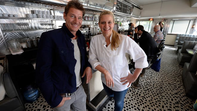 "TV personality Ty Pennington teams with culinary expert Amanda Freitag for Food Network's'""American Diner Revival.'"