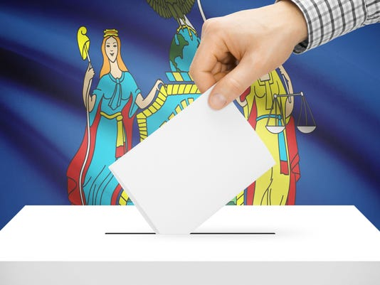 Ballot box with US state flag - New York