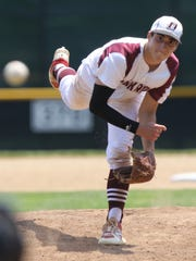 Park Ridge pitcher Cole Triano pitches in the fourth