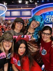 "From left, clockwise: Jennifer Mogenson (in cowboy hat), Jean Mogenson, Nicole Kraft, Christine Brandenburg and Kaley Giles-Bruess pose for a picture at the ""Let's Make a Deal"" studio in November 2014."