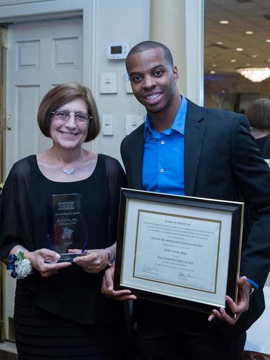 Volk inducted into Hall of Distinguished Alumni PHOTO CAPTION