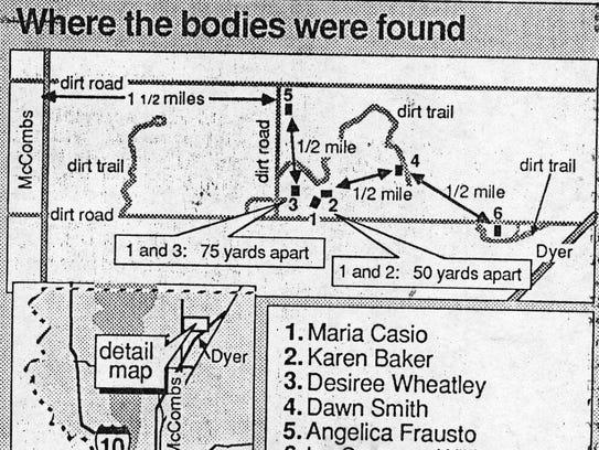 Where the bodies were found.