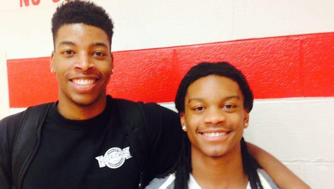Erwin basketball players Tarique Wynn, left, and C.J. Thompson.