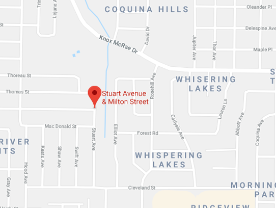 The area where a reported shooting may have taken place