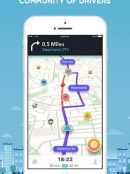 Waze Navigation Screen