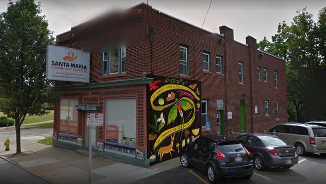 East Price Hill will host a series of five murals on multiple walls covering 1,437 square feet in the Warsaw Avenue business district. Here's one example.