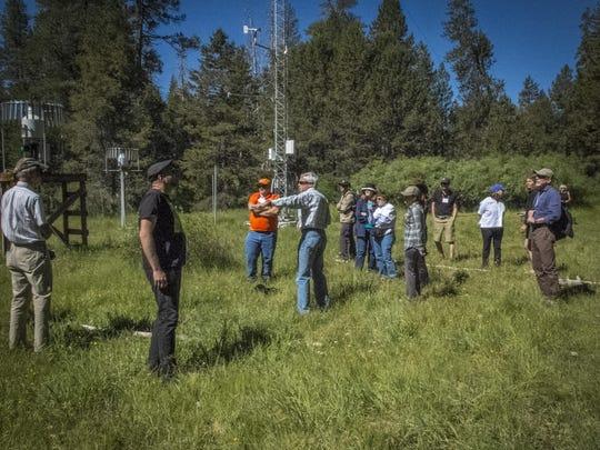 ArtSciConverge workshop attendees see integrated disciplines in practice at UC Berkeley Sagehen Creek Field Station near Truckee, California, Sunday, June 21, 2015.