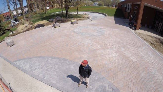 Dan Brockway, co-owner of Evergreen Outdoor, was excited to to get the job to re-design and install the amphitheater on the front lawn of the historic Livingston County Courthouse due to being a Howell native, and considers the job one of his most impressive.