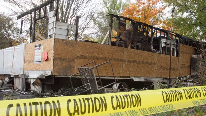 The family living in a mobile home in Brighton Village mobile home park escaped harm when fire destoyed their home, but their two dogs and two cats did not survive.