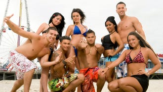 "This file photo released by MTV, shows the cast of the reality TV show ""Jersey Shore,"" from left, Vinny Guadagnino, Angelina Pivarnick, Paul "" DJ Pauly D"" Delvecchio, Jenni ""JWOWW"" Farley, Ronnie Magro, Nicole ""Snooki"" Polizzi, Mike ""The Situation"" Sorrentino and Sammi ""Sweetheart"" Giancola."