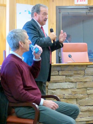 Jim Good of Environmental Scientific Associates, siting, and Del Archuleta of Mozen-Corbin give background and conclusions about the river.
