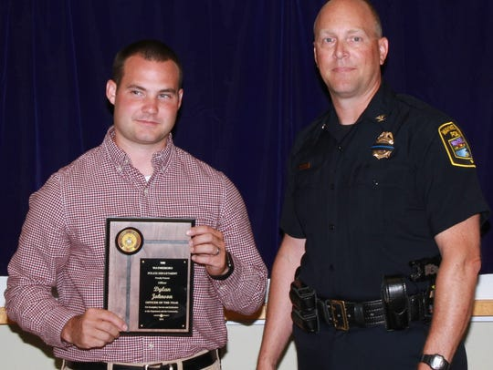 Officer Dylan Johnson was named the 2016 Waynesboro