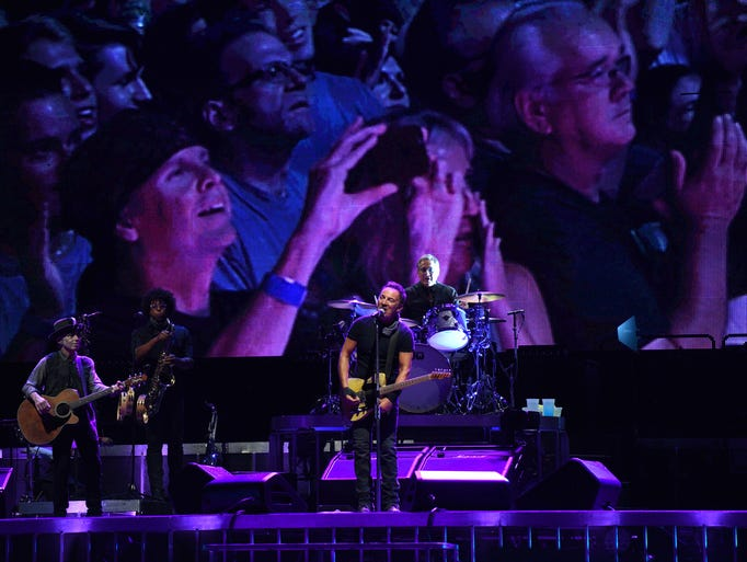 Bruce Springsteen and The E Street Band perform at