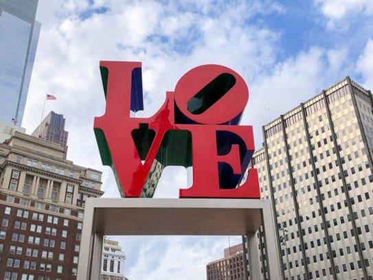 'LOVE' sculpture in Philadelphia.