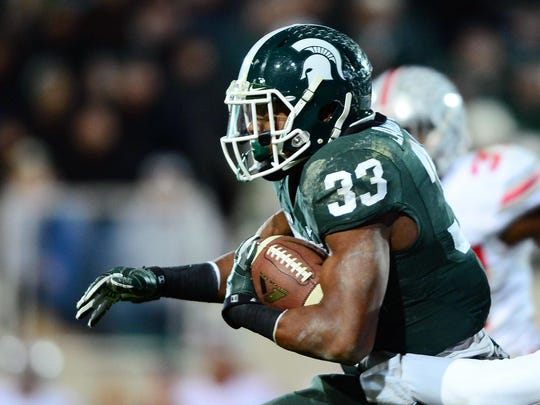 MSU running back Jeremy Langford against Ohio State.