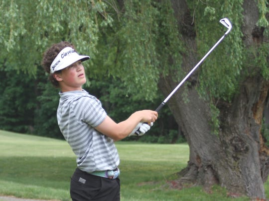 Brighton freshman Davis Codd qualified individually for the state golf tournament by shooting 76 in the regional at Dunham Hills on Thursday, May 31, 2018.