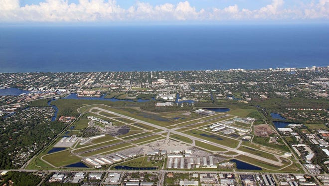 Aerial view of the Naples Municipal Airport