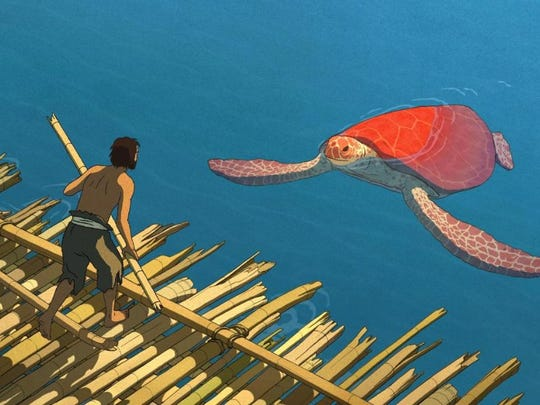 """Castaway meets sea turtle in the Oscar-nominated """"The Red Turtle."""""""