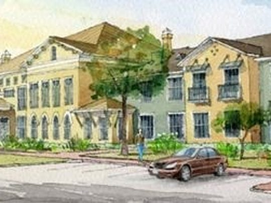 The Blake at Lafayette, seen in this rendering, will offer chef-prepared meals and other amenities to its senior residents.